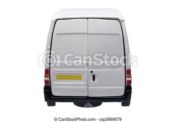 White van rear - csp3669079