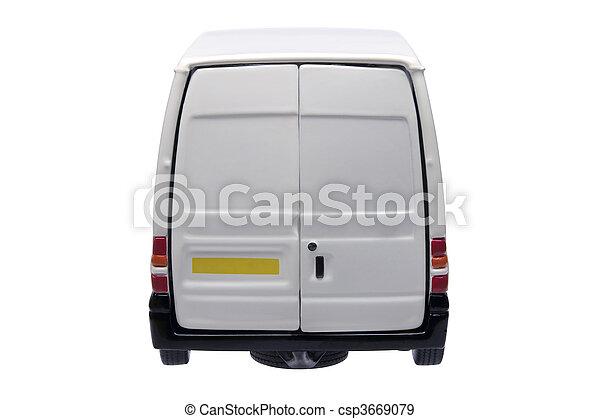 White van rear - csp3669079
