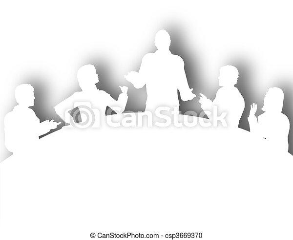 Cutout meeting - csp3669370