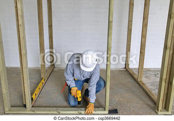 Carpenter drilling - csp3669442
