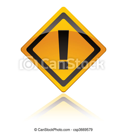 warning sign icons exclamation - csp3669579