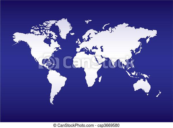 world map blue ocean - csp3669580