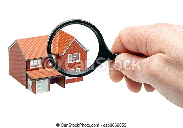 Examining a house - csp3669653