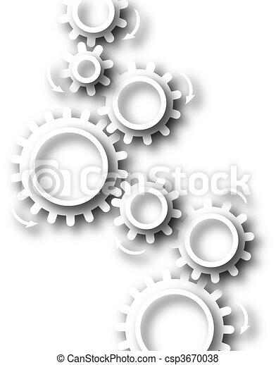 White cog wheels - csp3670038