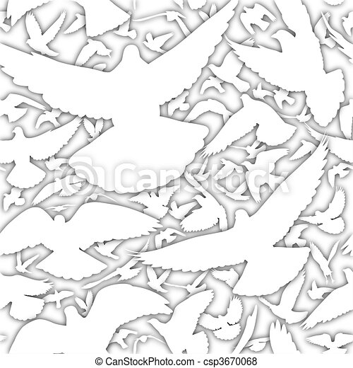 White Doves Drawings White Dove Tile Csp3670068