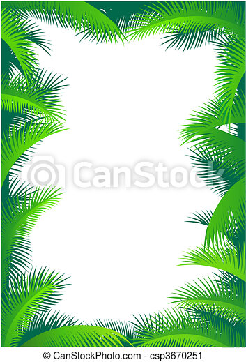 Palm leaf border - csp3670251