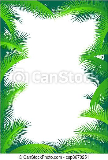 Palm leaf border - csp3670251