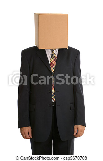 Box man standing - csp3670708