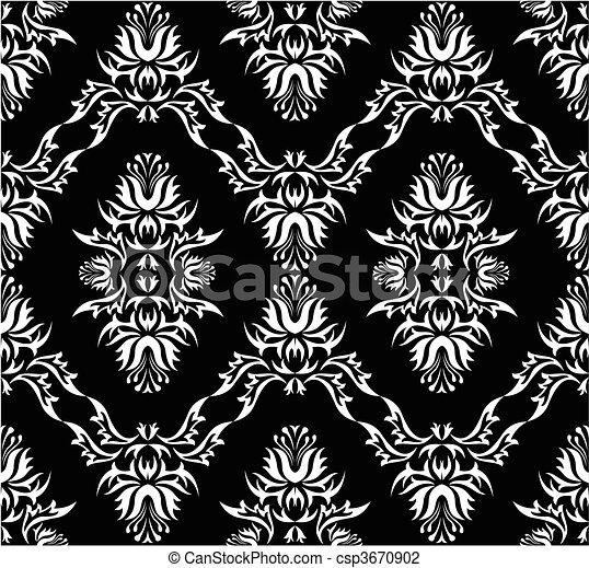Damask (Victorian) seamless pattern - csp3670902