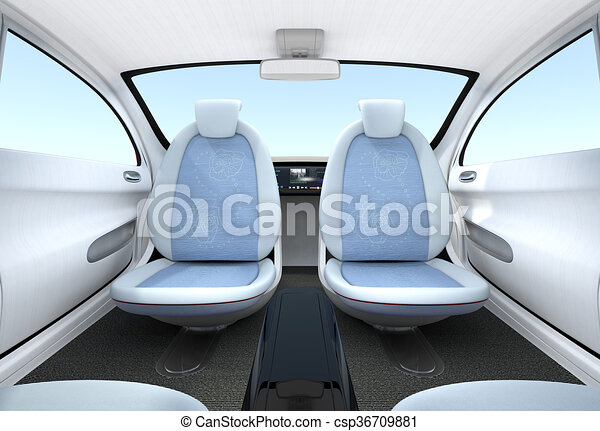 stock illustration of self driving car interior concept the front seats could csp36709881. Black Bedroom Furniture Sets. Home Design Ideas