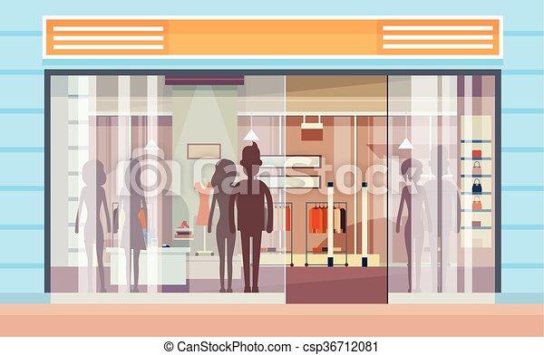 Fenster außen modern  Vektor von laden, shoppen, modern, fenster, luxus, außen ...