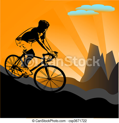 biker silhouette - csp3671722