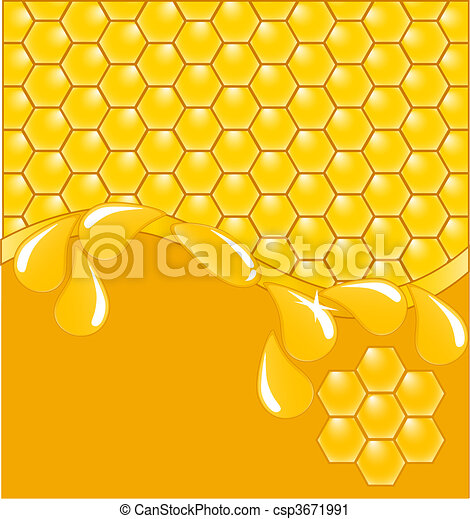 honeycomb background with drops - csp3671991