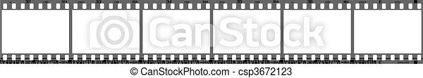 negative filmstrip frames - csp3672123