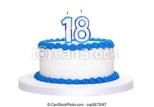 Birthday cake - csp3673047