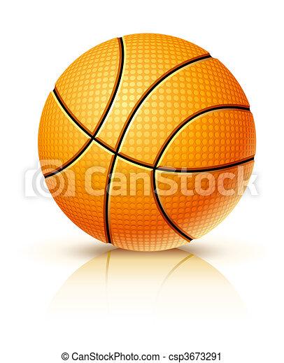 ball for playing basketball game - csp3673291