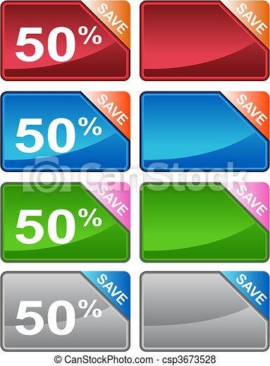 Discount Price Tag Set - csp3673528