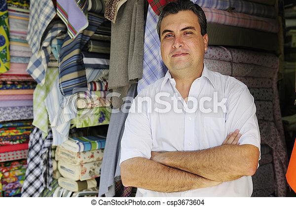 Eigentümer, einzelhandel, kaufmannsladen,  portait - csp3673604