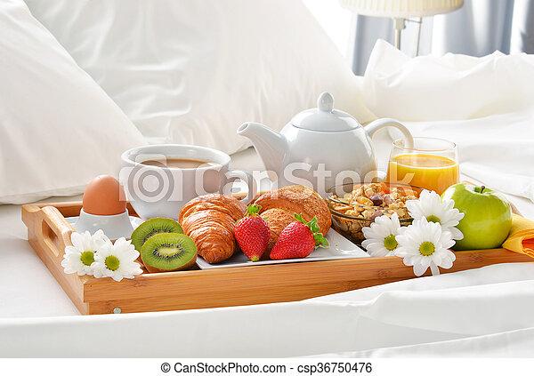 Im genes de desayuno hotel bandeja habitaci n cama - Bandeja desayuno cama ...