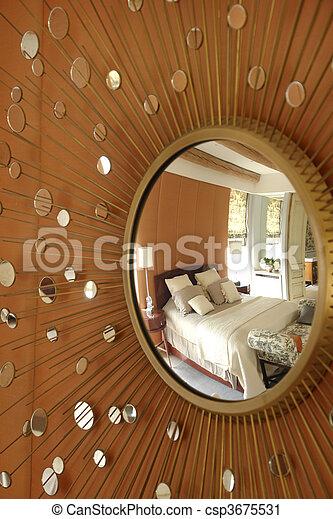 Mirror with beams  - csp3675531