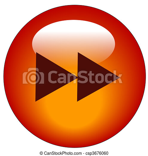 red fast forward web icon or button - vector - csp3676060
