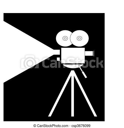 Stock de Ilustraciones de pelcula fliming cmara  filmadora