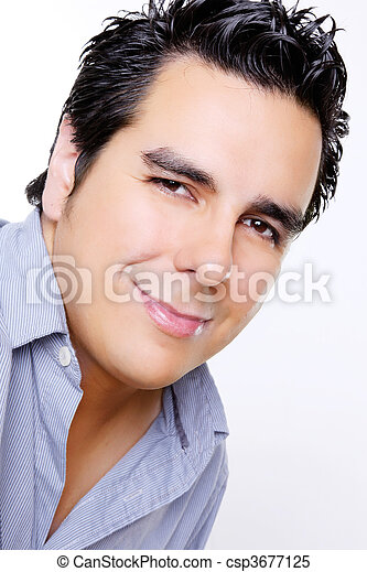 homens, rosto - csp3677125