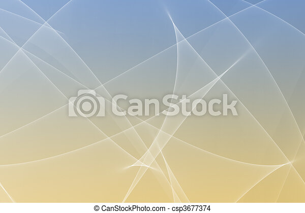 Soothing Abstract Glowing Lines Background - csp3677374