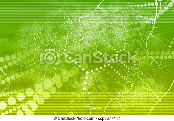 Technology Industrial Network Abstract - csp3677447