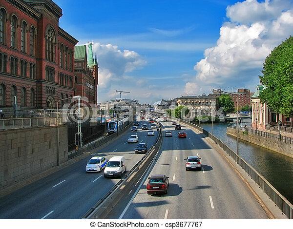 transport, stockholm - csp3677767