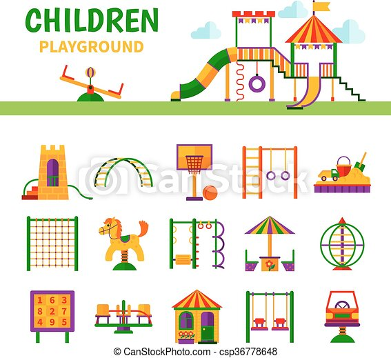 Children Playground Equipment 36778648 on Color By Note Worksheet