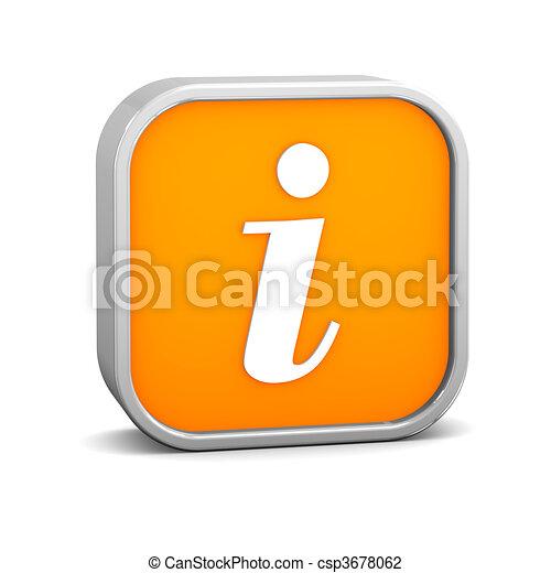Orange Info Sign - csp3678062