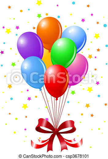 Party Balloons - csp3678101