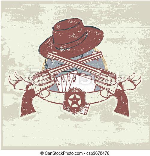 sheriff insignia  - csp3678476