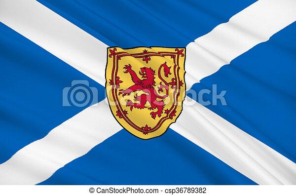 Flag of Scotland, United Kingdom of Great Britain - csp36789382