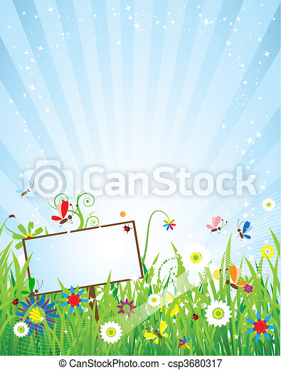 Summer meadow beautiful - csp3680317