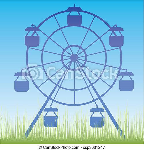 Ferris wheel vector illustration. - csp3681247