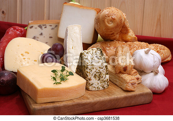 cheese platter with some organic fresh cheese - csp3681538