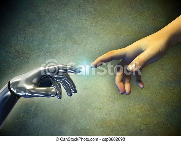 Hands touching - csp3682698