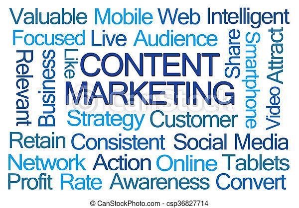 Content Marketing Word Cloud - csp36827714