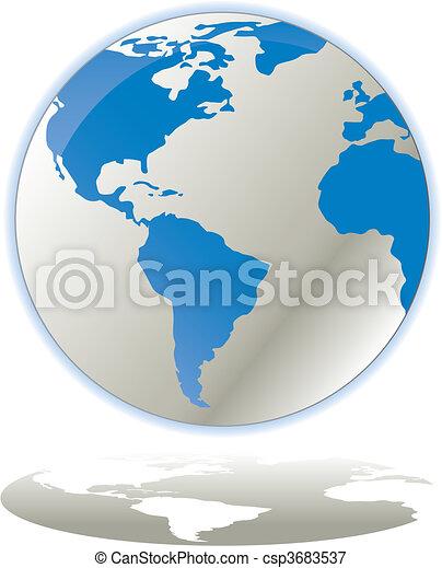 Globe concept icon web internet vec - csp3683537