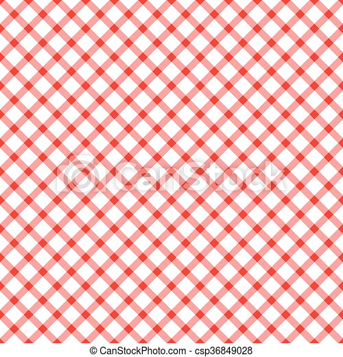 Vector Illustration Of Seamless Checkered Table Cloth