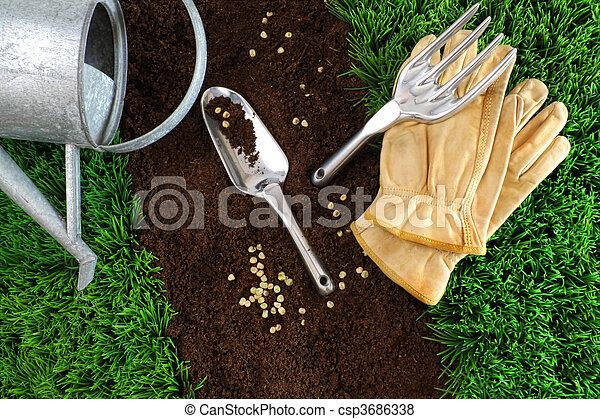 地球, 分類, 工具, 花園 - csp3686338