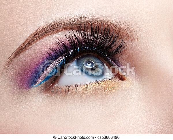 girl\'s eyezone make up - csp3686496