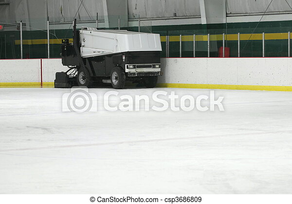 A Zamboni Ice Machine - csp3686809