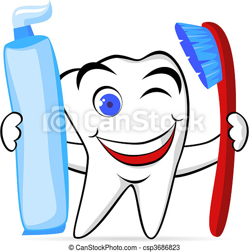 tooth character - csp3686823
