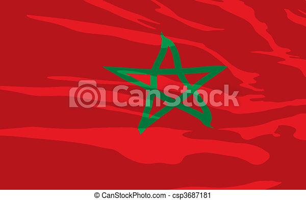 Vector flag of Maroc - csp3687181