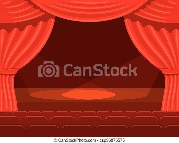 Illustrations vectoris es de th tre projecteurs tape - Dessin de theatre ...