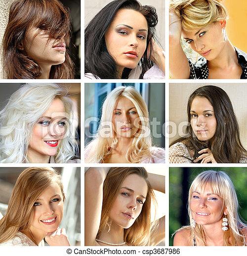 faces of women - csp3687986