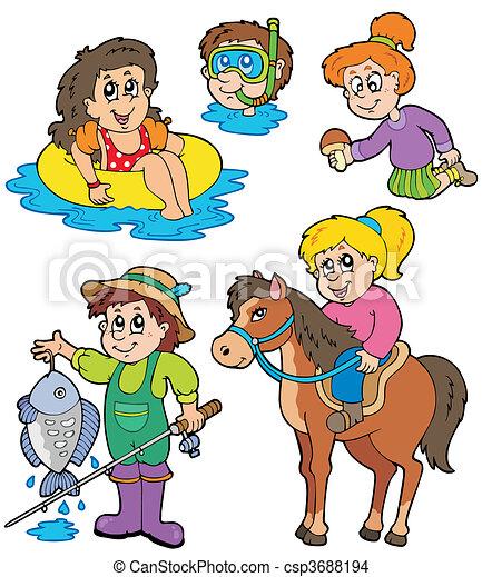 Summer kids activities collection - csp3688194